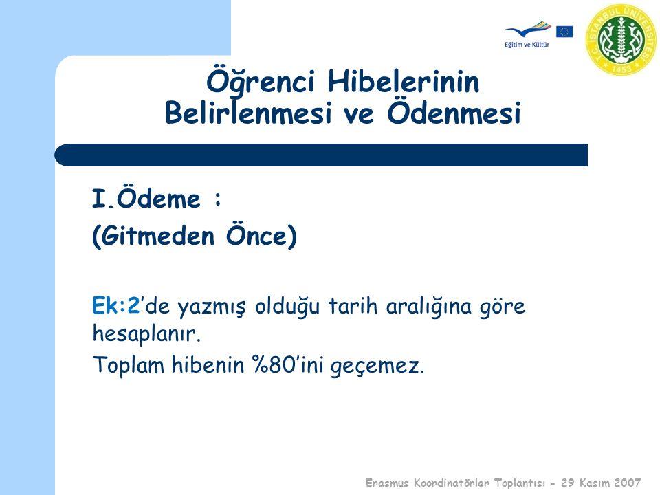 Erasmus ve Hibeler Mine MUT Erasmus Ofis Sorumlusu mut@istanbul.edu.tr 29 Kasım 2007 Erasmus Koordinatörler Toplantısı