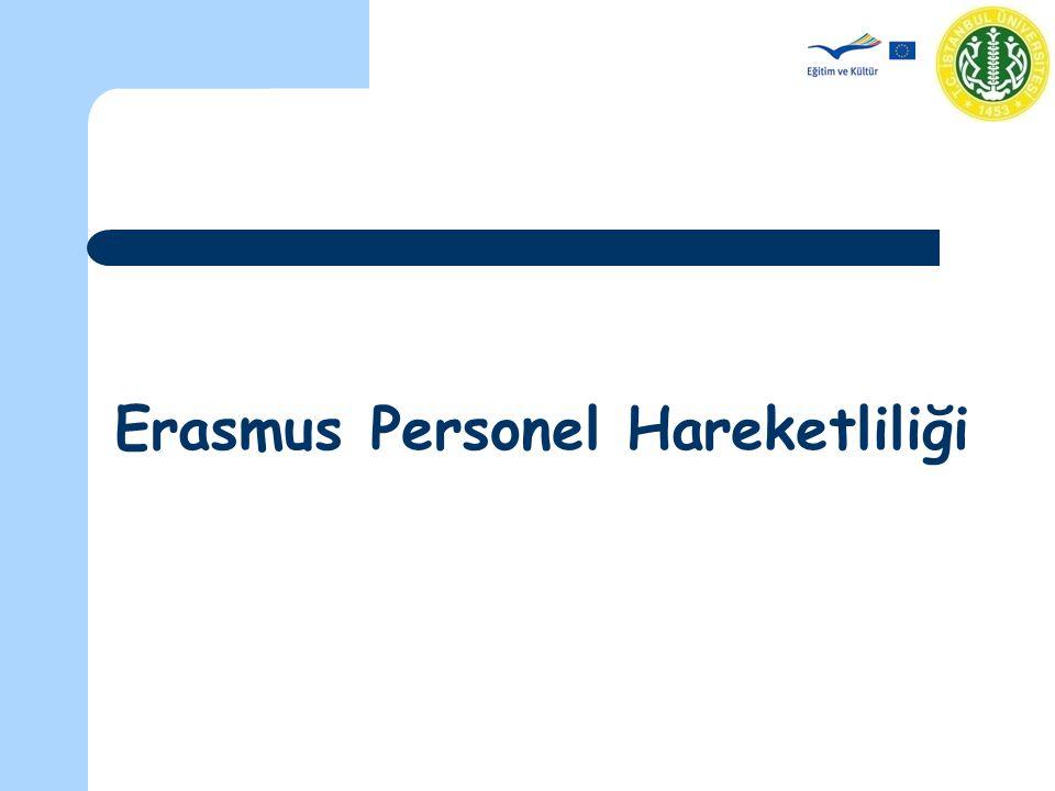 Erasmus Koordinatörler Toplantısı - 29 Kasım 2007 Personel hareketliliğinden faydalanan personelin alacağı hibe hesaplama kuralları merkez tarafından belirlenen hibe hesaplama kuralları çerçevesinde yapılır.