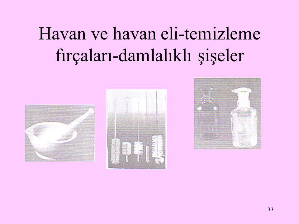 33 Havan ve havan eli-temizleme fırçaları-damlalıklı şişeler