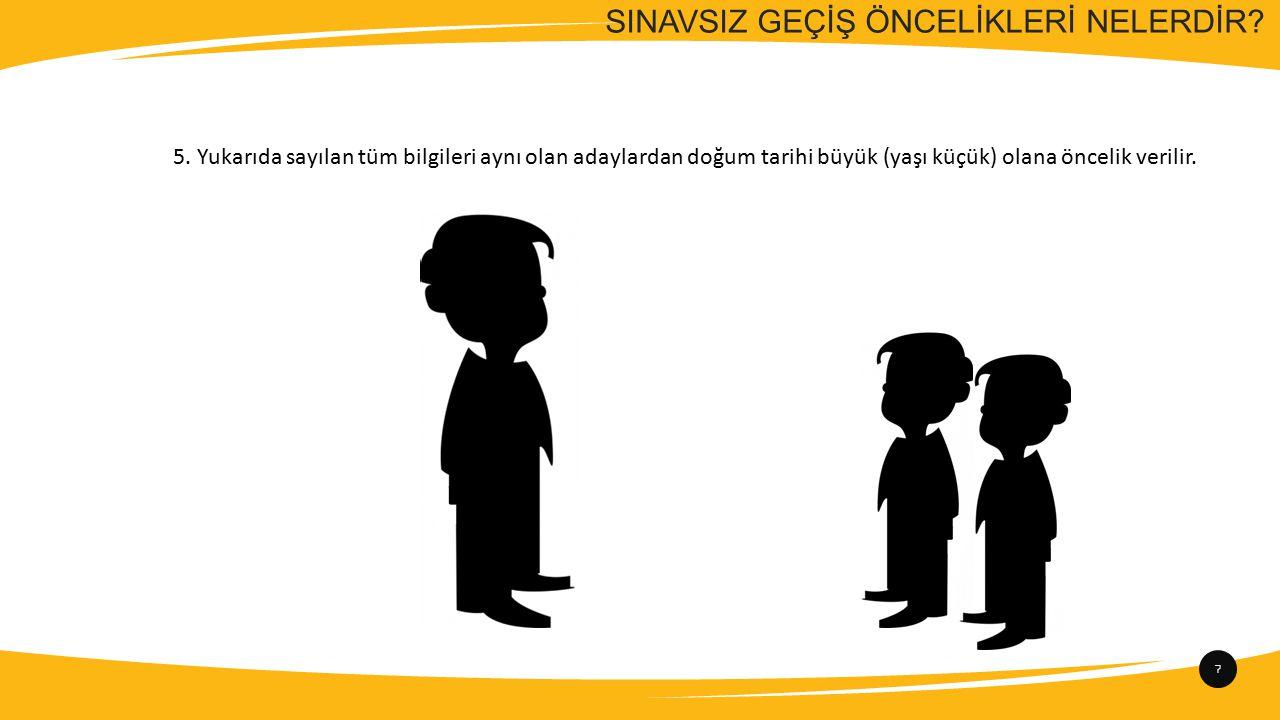 SINAVSIZ GEÇİŞ ÖNCELİKLERİ NELERDİR.7 5.