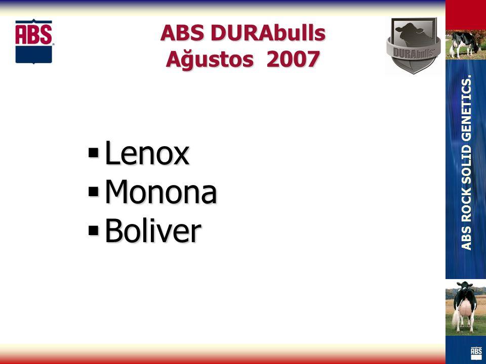 ABS ROCK SOLID GENETICS. ABS DURAbulls Ağustos 2007  Lenox  Monona  Boliver