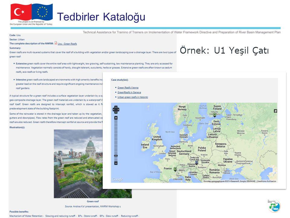 Tedbirler Kataloğu Örnek: U1 Yeşil Çatı