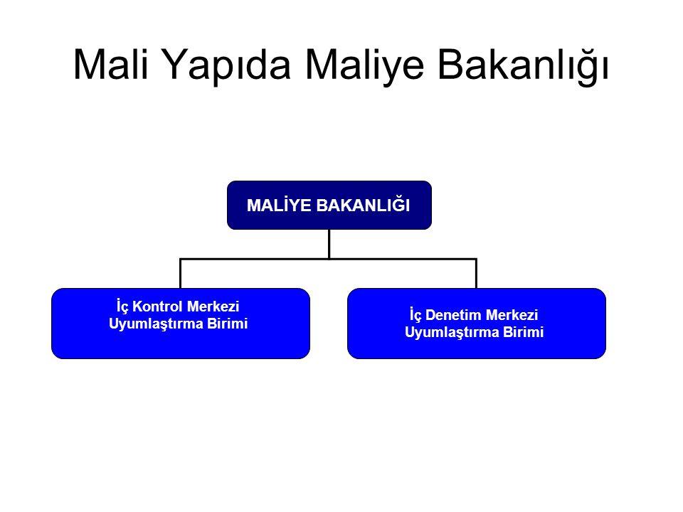 Mali Yapıda Maliye Bakanlığı MALİYE BAKANLIĞI İç Denetim Merkezi Uyumlaştırma Birimi İç Kontrol Merkezi Uyumlaştırma Birimi