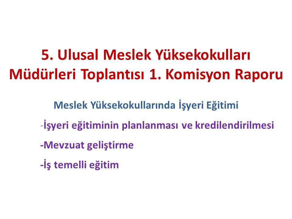 Önkabüller Meslek eğitiminde işyeri eğitimi, mesleği icra etme kazanımları açısından çok önemli Türkiye'de MYO'ları tarafından sağlanan halıhazırdaki meslek eğitiminde işyeri eğitiminin süresi ve içeriği yetersiz.