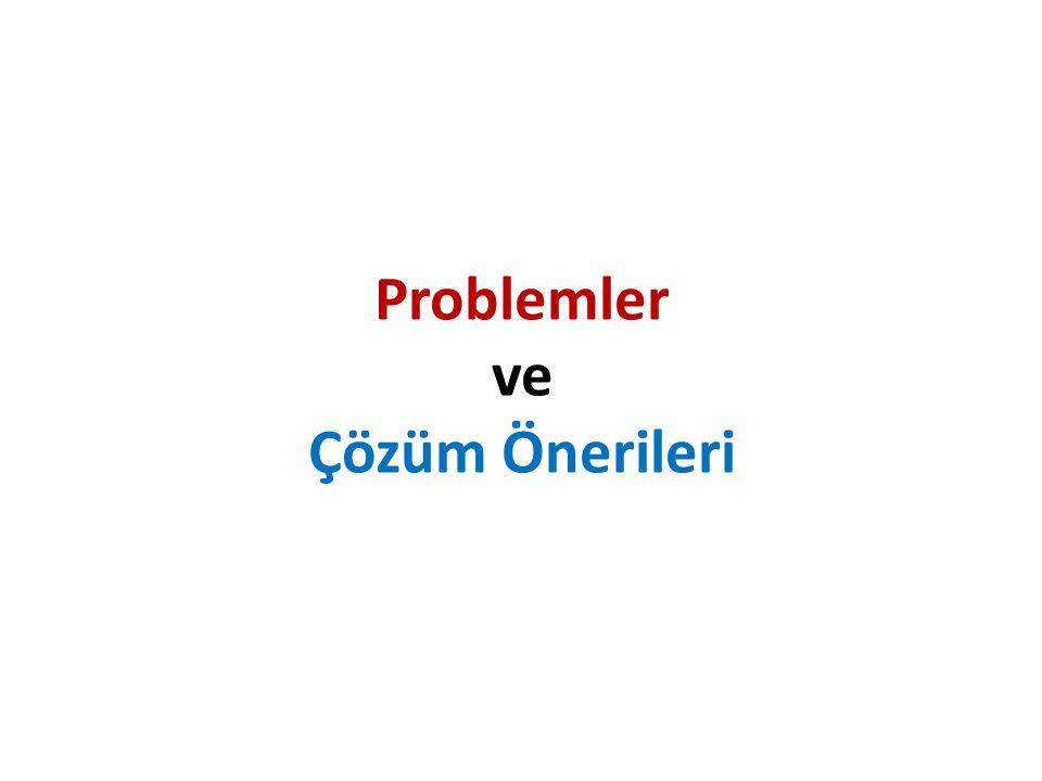 Problemler ve Çözüm Önerileri