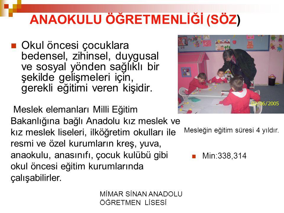 MİMAR SİNAN ANADOLU ÖĞRETMEN LİSESİ