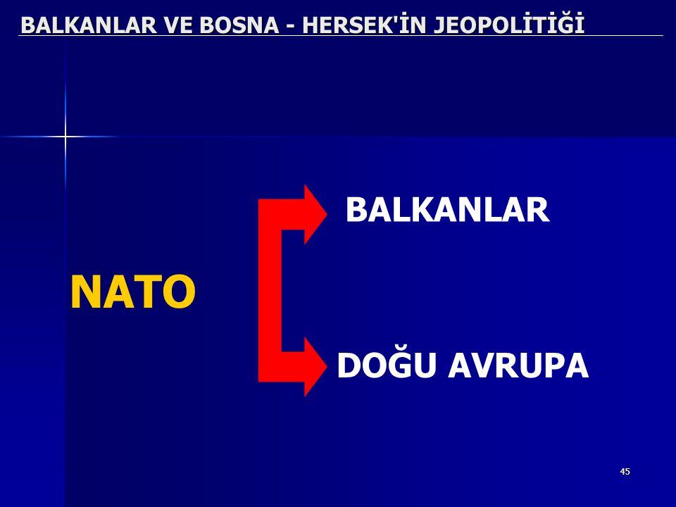 45 BALKANLAR VE BOSNA - HERSEK'İN JEOPOLİTİĞİ DOĞU AVRUPA NATO BALKANLAR