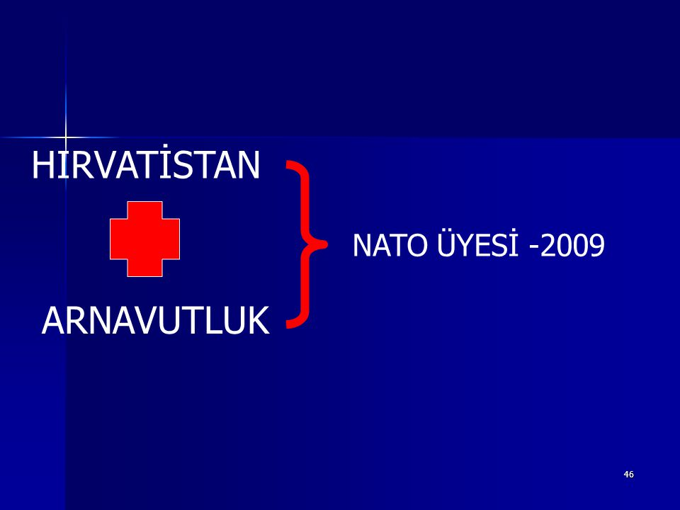 46 HIRVATİSTAN ARNAVUTLUK NATO ÜYESİ -2009