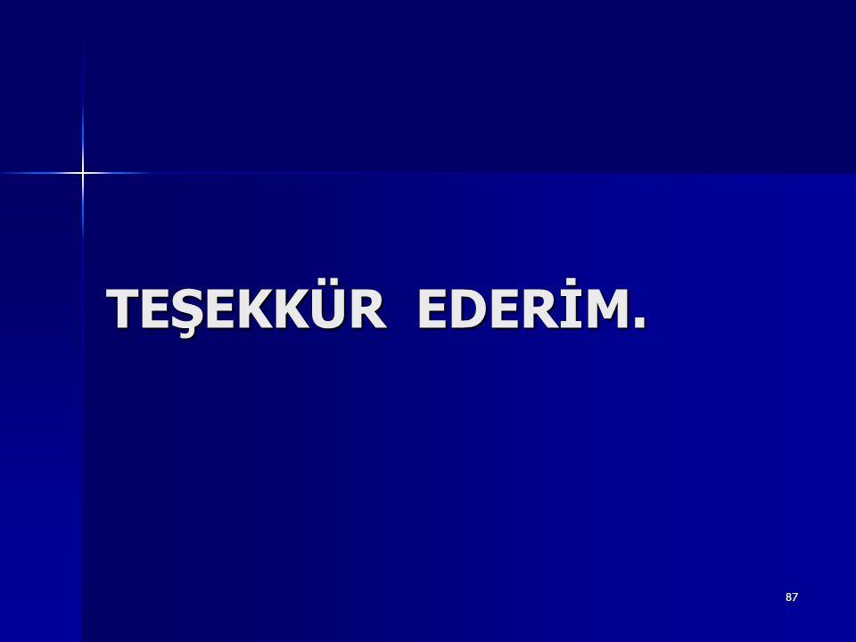 87 TEŞEKKÜR EDERİM.