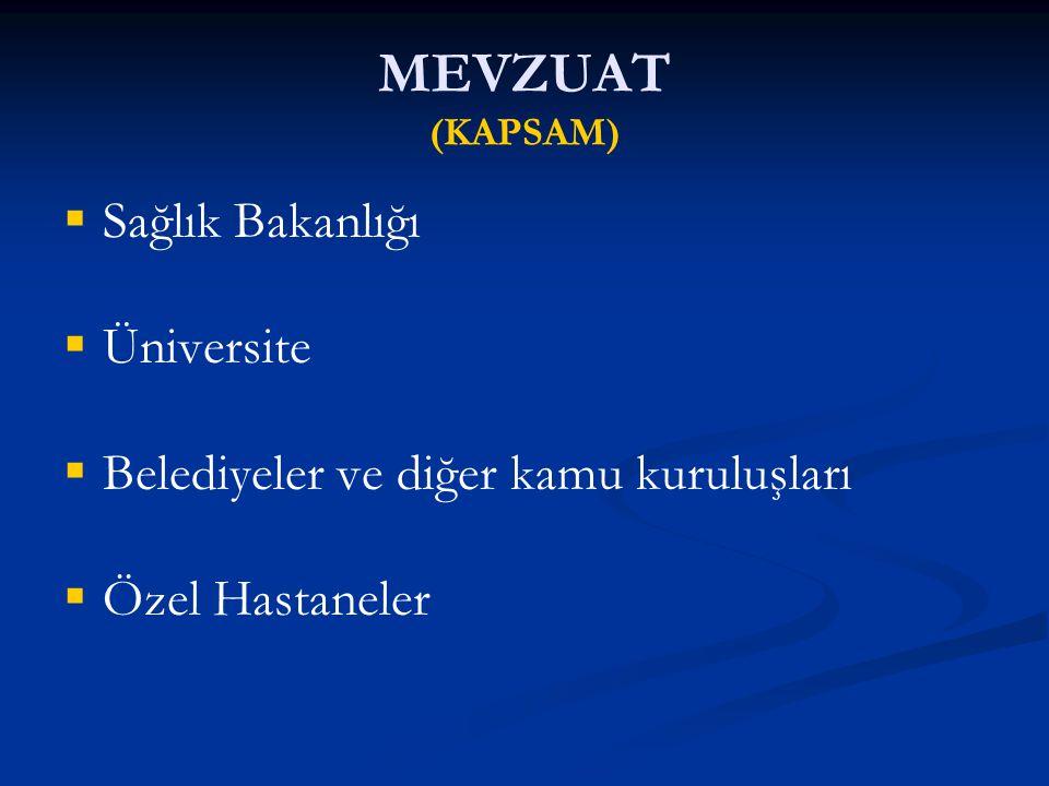 TESCİL EDİLEN (FİZİKİ OLARAK ACİL SERVİS SEVİYELERİ) KURUM TÜRÜ 1.