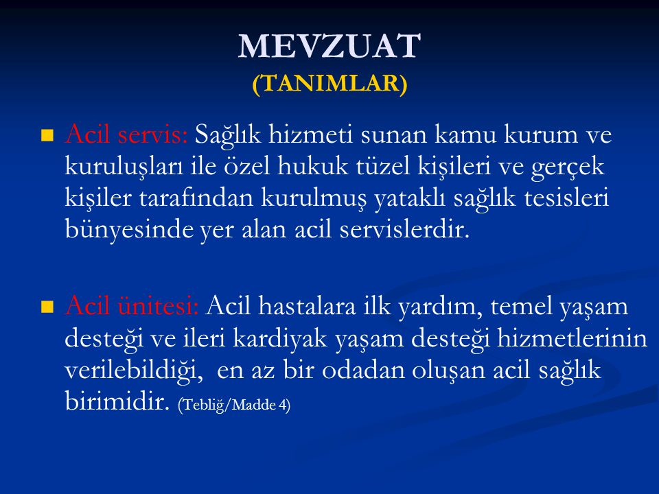 TESCİL EDİLEN (FONKSİYON OLARAK ACİL SERVİS SEVİYELERİ) KURUM TÜRÜ 1.