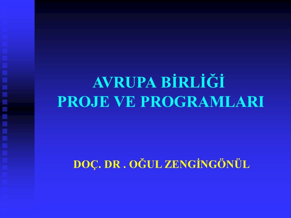DOÇ. DR. OĞUL ZENGİNGÖNÜL AVRUPA BİRLİĞİ PROJE VE PROGRAMLARI