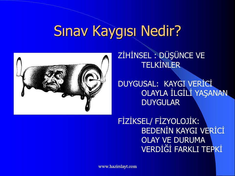 www.hazirslayt.com ÖSS Başarısı ve Sınav Stresiyle Baş Etmenin Temel Yolları