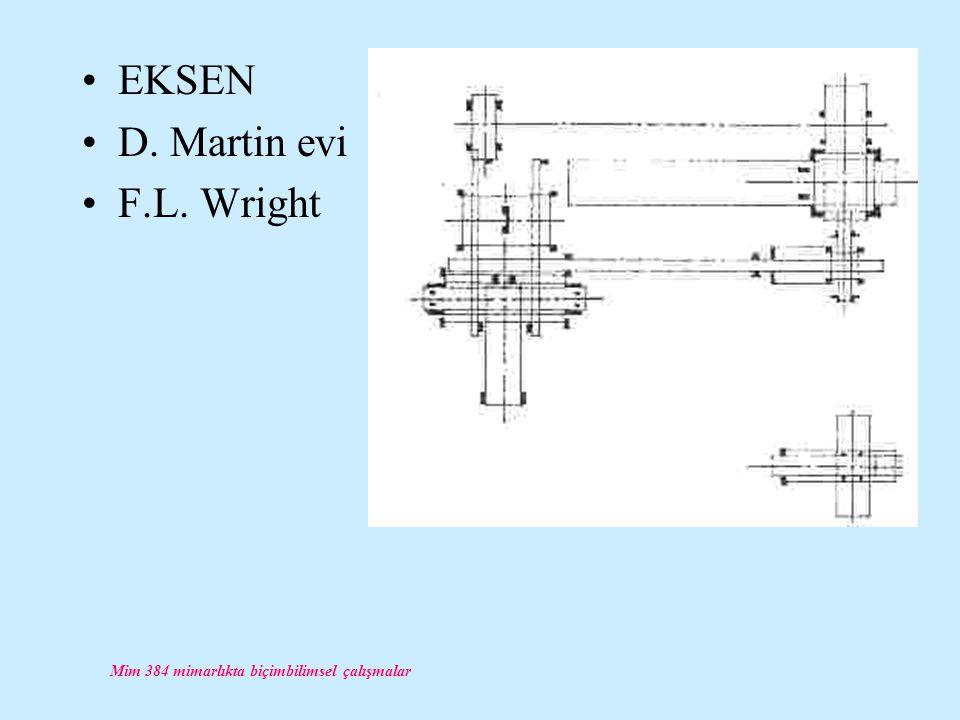 Mim 384 mimarlıkta biçimbilimsel çalışmalar EKSEN D. Martin evi F.L. Wright
