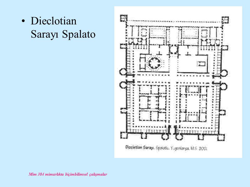 Mim 384 mimarlıkta biçimbilimsel çalışmalar Dieclotian Sarayı Spalato