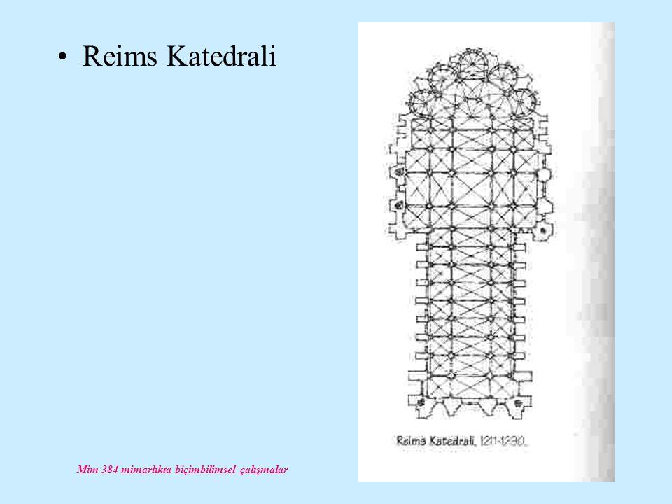 Mim 384 mimarlıkta biçimbilimsel çalışmalar Reims Katedrali