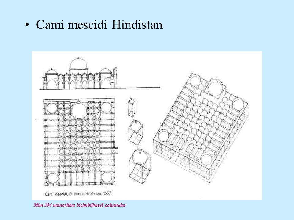 Mim 384 mimarlıkta biçimbilimsel çalışmalar Cami mescidi Hindistan