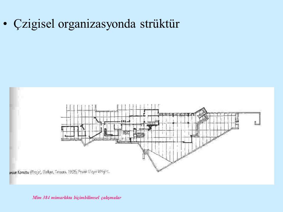 Mim 384 mimarlıkta biçimbilimsel çalışmalar Çzigisel organizasyonda strüktür