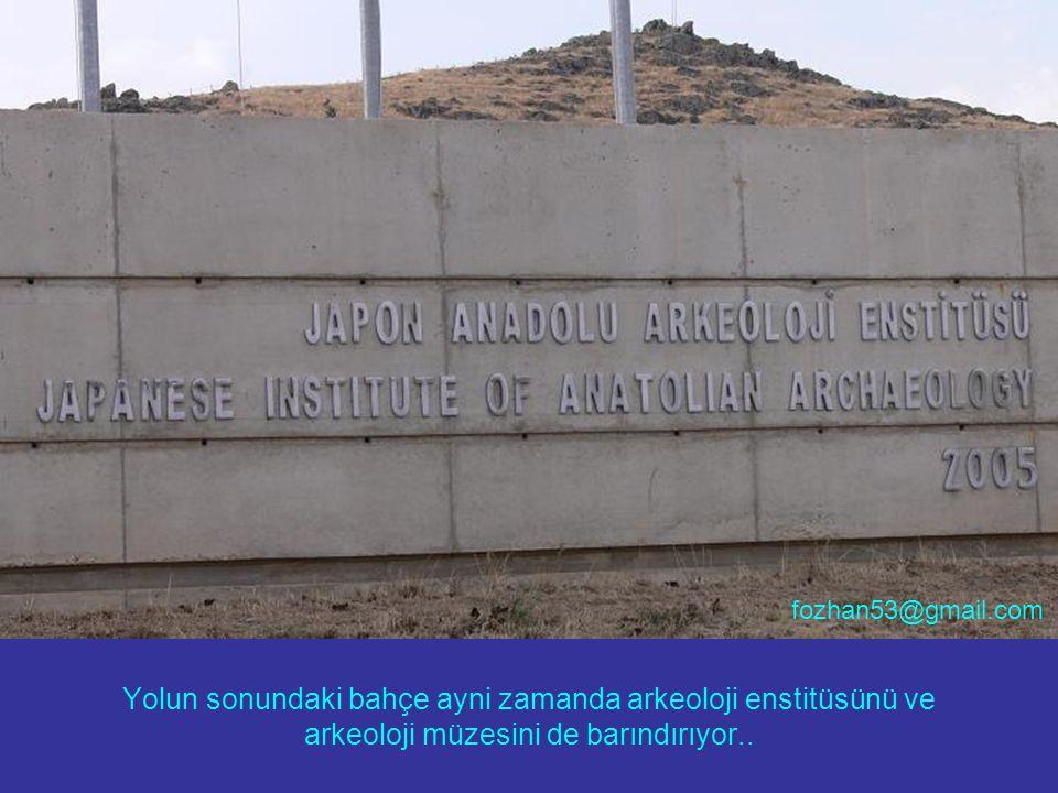 Yolun sonundaki bahçe ayni zamanda arkeoloji enstitüsünü ve arkeoloji müzesini de barındırıyor.. fozhan53@gmail.com