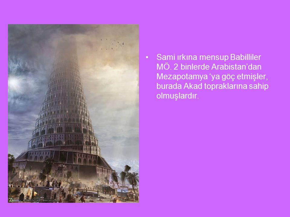 Sami ırkına mensup Babilliler MÖ.