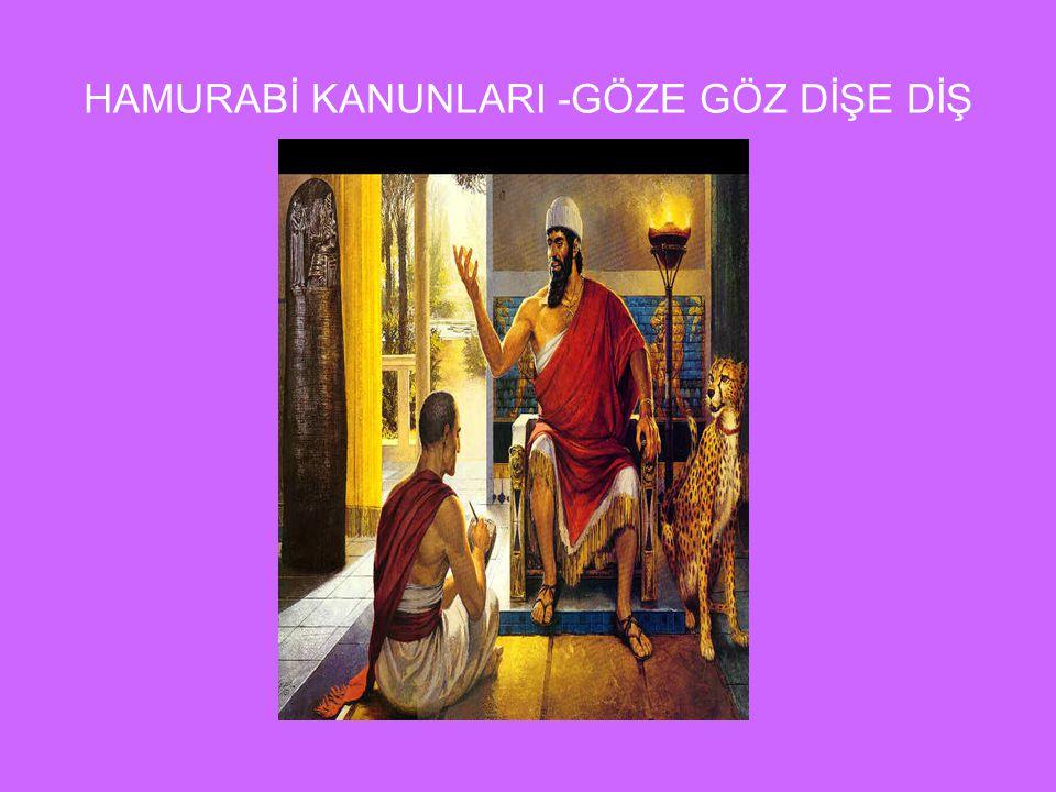 Babilliler tarihte bilinen ilk anayasayı yapmışlardır, yapan kişi ise Birinci Babil Devletinin en güçlü hükümdarı Hamurabidir. Yaklaşık 300 kanundan o