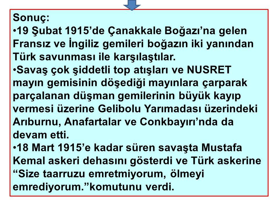 Milli Mücadele Hazırlık Kronolojisi 19Mayıs 1919 Bandırma Vapuru ile Samsun'a çıktı.