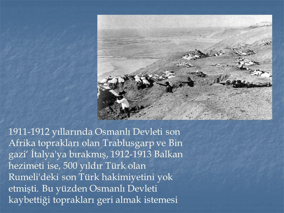 1914′ de başlayan I.Dünya savaşı dört yıl sürdü.