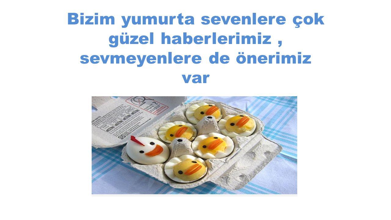 Bizim yumurta sevenlere çok güzel haberlerimiz, sevmeyenlere de önerimiz var