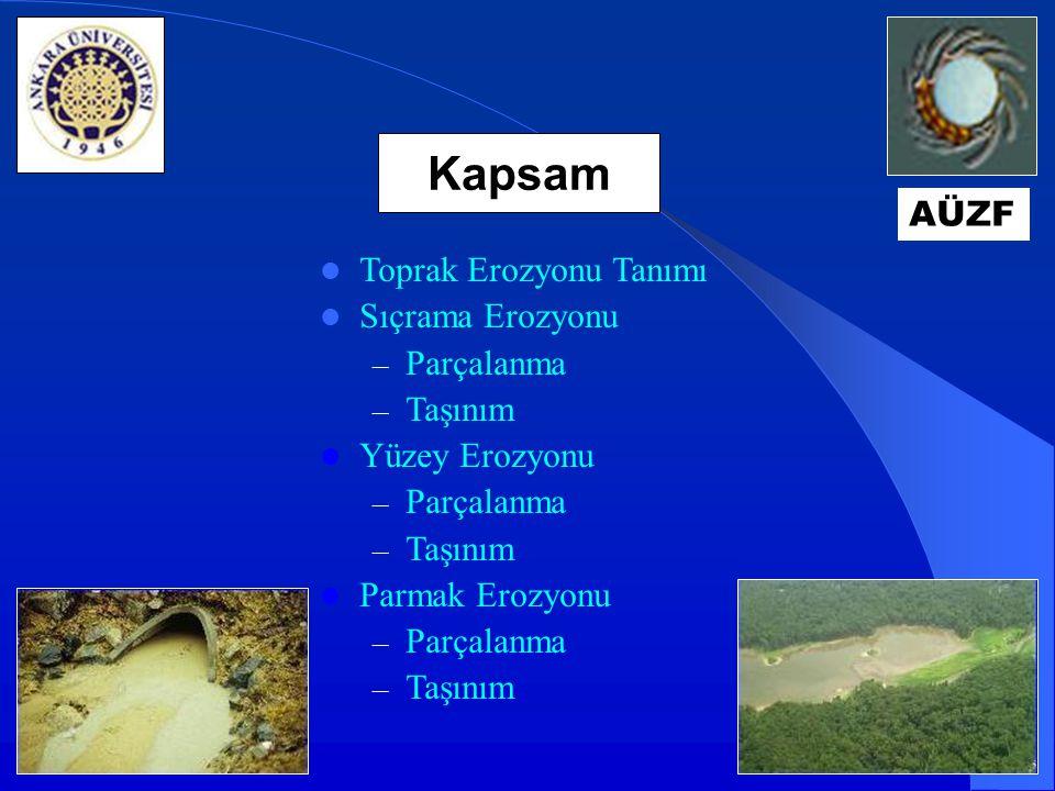 Yüzey erozyonu, yağmur damlası parçalama ve yüzeysel akış taşınım prosesleri ile toprağın ince bir tabaka halinde uzaklaştırılması olayıdır.