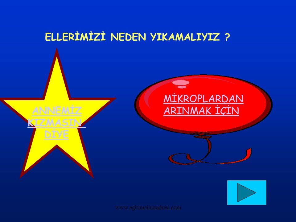 ELLERİMİZİ NEDEN YIKAMALIYIZ ? ANNEMİZ KIZMASIN DİYE MİKROPLARDAN ARINMAK İÇİN www.egitimcininadresi.com