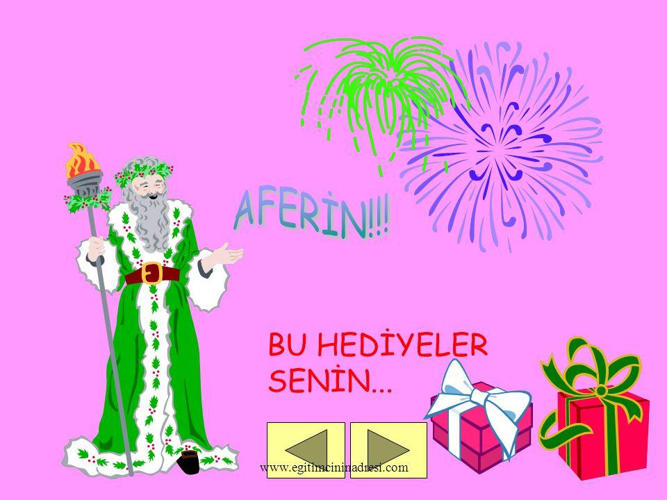 BU HEDİYELER SENİN... www.egitimcininadresi.com