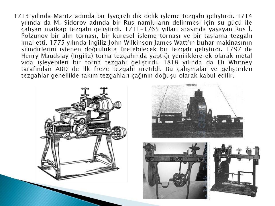 1713 yılında Maritz adında bir İşviçreli dik delik işleme tezgahı geliştirdi. 1714 yılında da M. Sidorov adında bir Rus namluların delinmesi için su g