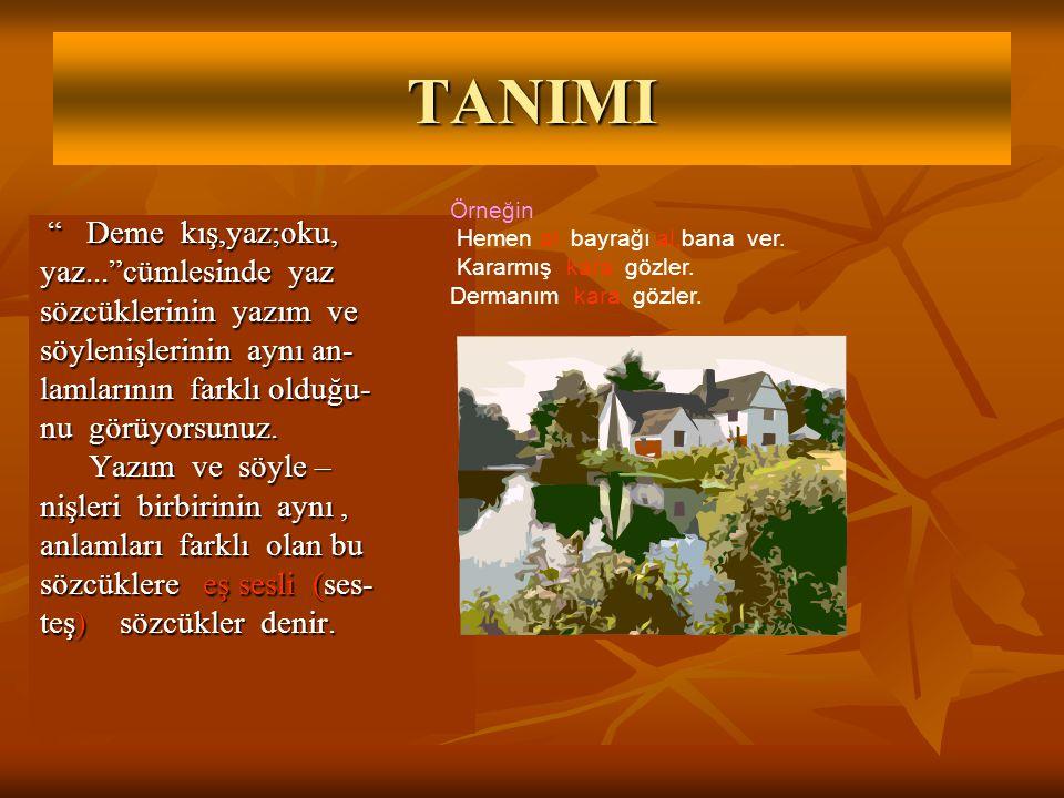 TESTLER 1.Aşağıdaki sözcüklerin hangisi zıt anlamlıdır.