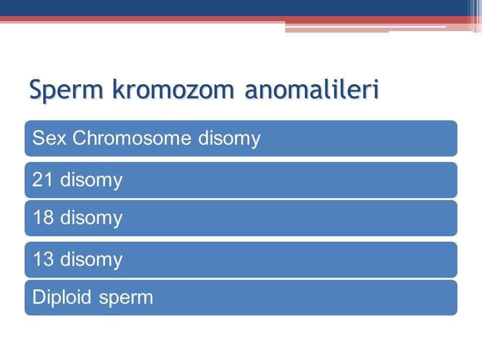 Sperm kromozom anomalileri Sex Chromosome disomy21 disomy18 disomy13 disomyDiploid sperm