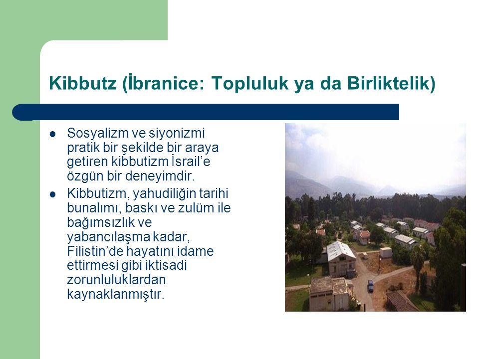 Kibbutzların Kuruluşu ve Şekilleri: İlk Kibuta 1909 yılında kurulmuştur.