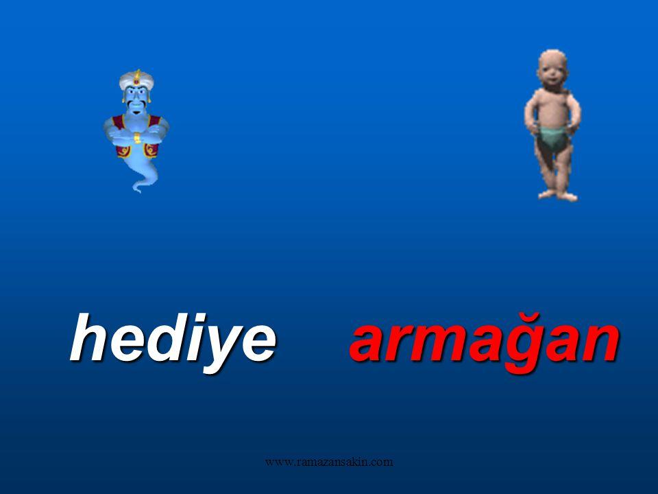 www.ramazansakin.com Bu sözcüklerin eş anlamlılarını da siz bulun: