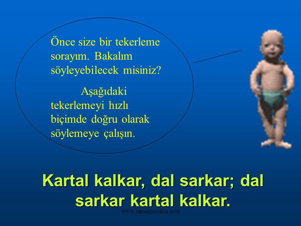 www.ramazansakin.com Merhaba arkadaşlar! Benim adım Balerin Bebek. Bugün sizlerle Türkçe dersinde beraber olacağım.