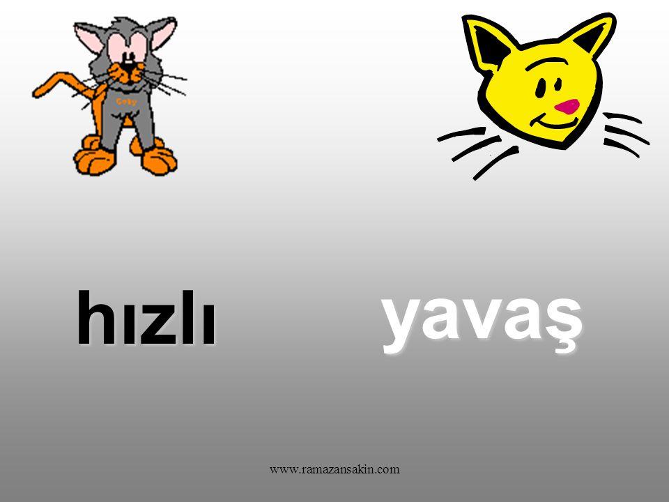 www.ramazansakin.com Bu sözcüklerin zıt anlamlılarını da siz bulun: