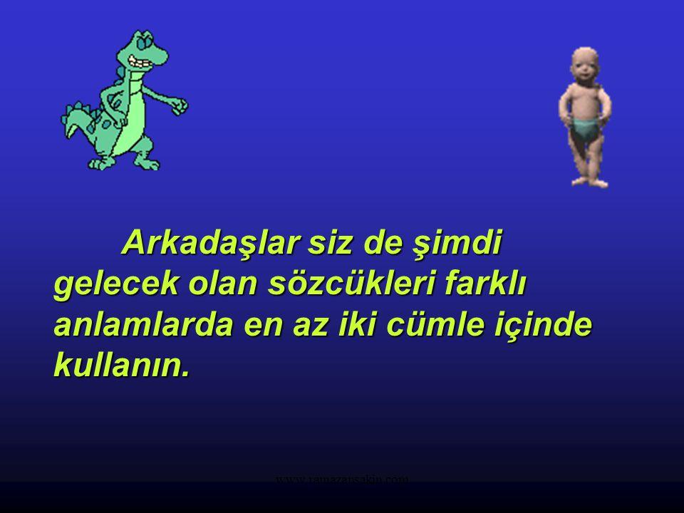 """www.ramazansakin.com SESTEŞ SÖZCÜKLER Yazılışları aynı; fakat anlamları farklı olan bu tür sözcüklere sesteş (eş sesli) sözcükler denir. Örnek: 1- """"Gö"""