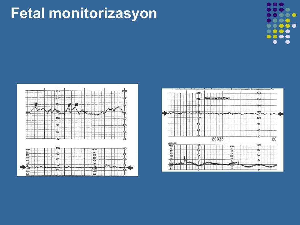 Bradycardia: < 110 BPM baseline Tachycardia: > 160 BPM baseline Variability: no detectable range: absent <= 5 BPM : minimal variability 6-25 BPM : mod