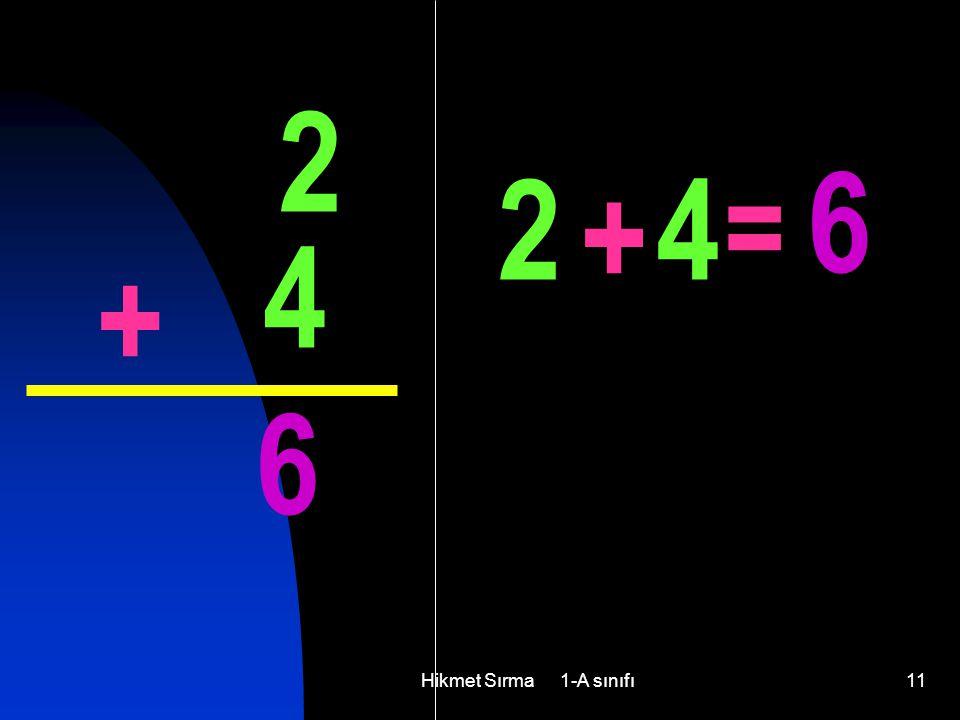Hikmet Sırma 1-A sınıfı11 2 4 + 6 2 + 4 = 6