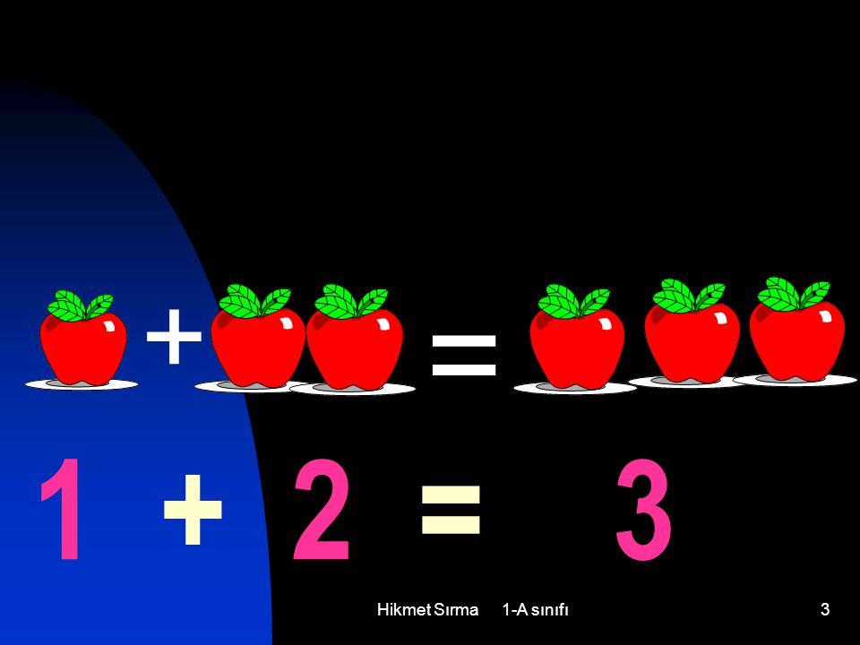 3 + = 1 + 2 = 3