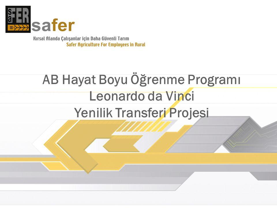 AB Hayat Boyu Öğrenme Programı Leonardo da Vinci Yenilik Transferi Projesi