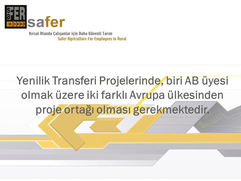 SAFER projesinin amacı, tarımsal alanlarda çalışanlar için daha güvenli çalışma koşullarının oluşmasına katkıda bulunmaktır.