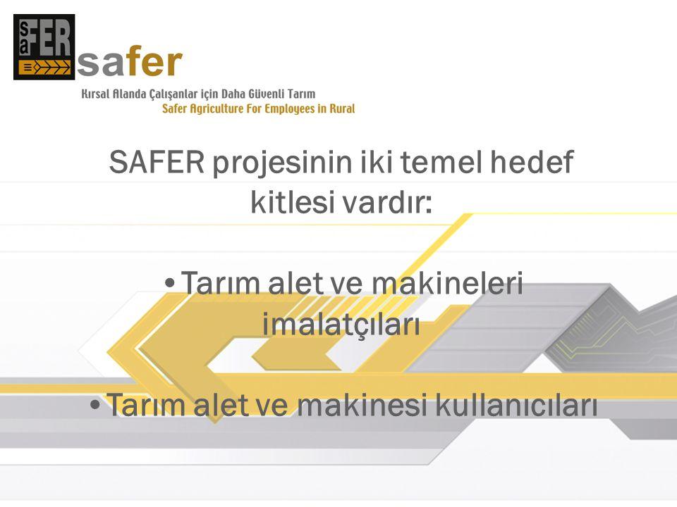 SAFER projesinin iki temel hedef kitlesi vardır: Tarım alet ve makineleri imalatçıları Tarım alet ve makinesi kullanıcıları