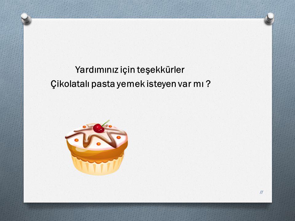 Yardımınız için teşekkürler Çikolatalı pasta yemek isteyen var mı ? 11