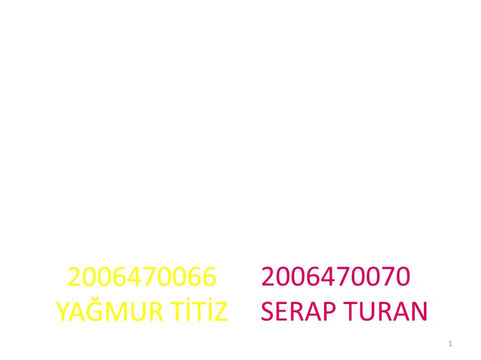 2006470066 YAĞMUR TİTİZ 2006470070 SERAP TURAN 1
