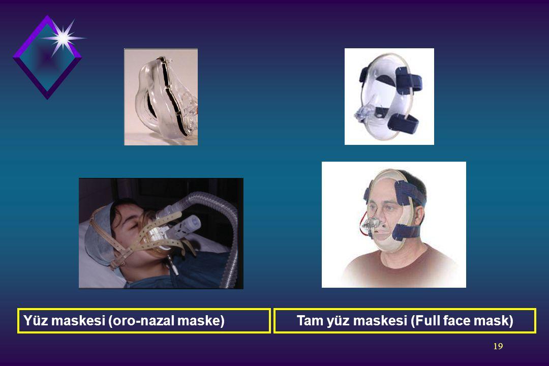 19 Tam yüz maskesi (Full face mask)Yüz maskesi (oro-nazal maske)