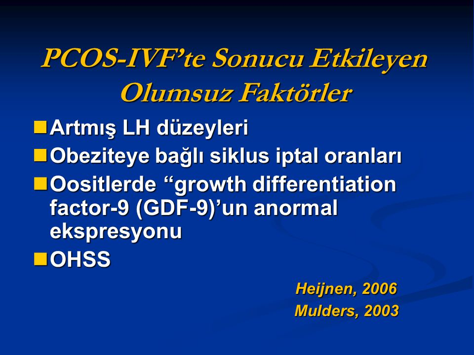 OHSS: Sekonder önleme stratejileri Coasting (Ia) Coasting (Ia) hCG dozunun azaltılması hCG dozunun azaltılması Tüm embriyoların dondurulması (Ia) Tüm embriyoların dondurulması (Ia) Siklus iptali Siklus iptali Ovulasyonun tetiklenmesi için alternatif ajanlar (GnRHa, rekombinant LH) (Ib) Ovulasyonun tetiklenmesi için alternatif ajanlar (GnRHa, rekombinant LH) (Ib) Humaidan, Fertil Steril, 2010 Humaidan, Fertil Steril, 2010