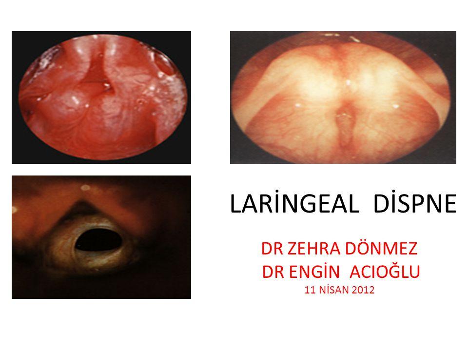ÜST SOLUNUM YOLU OBSTRÜKSİYONLARINDA YAŞA GÖRE SINIFLAMA Erişkinlerde Erişkinlerde etyoloji: · Travmatik · Enfeksiyöz · Mekanik · Allerjik · Neoplastik · Travmatik - Larengeal veya trakeal fraktür - Orofarengeal laserasyon - Travmatik ödem - Entübasyona sekonder stenoz veya granülasyon · Enfeksiyöz - Epiglottit ( Erişkinde daha fazla supraglottitis şeklinde ) - Peritonsiller abse - Derin boyun abseleri - Ludwing anjini · Mekanik - Yabancı cisim - Kan, kusmuk vs · Allerjik · Neoplastik - Tümörün kitle etkisi veya tümörden masif kanama sonucu.